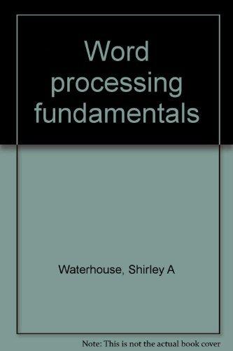 9780064537223: Word processing fundamentals