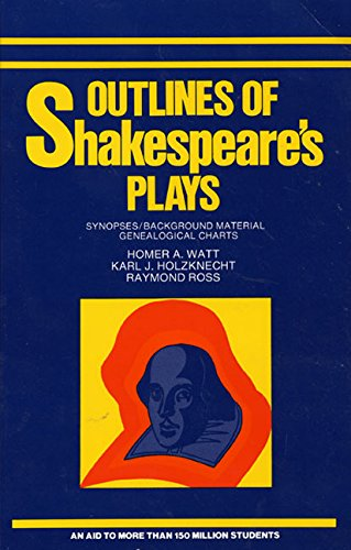 9780064600255: Outlines of Shakespeare's Plays