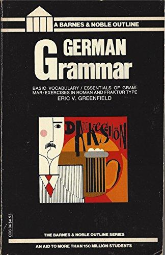 9780064600347: German Grammar (College Outline)