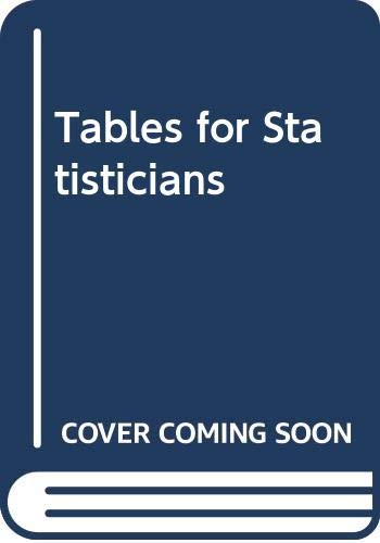 9780064600750: Tables for Statisticians (College Outline S.)