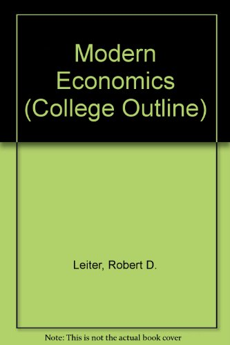 9780064600811: Modern Economics (College Outline)