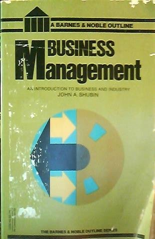 9780064600927: Business Management (College Outline)