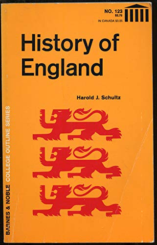 9780064601238: History of England (College Outline)