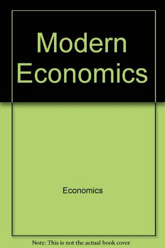 9780064601382: Modern economics (Barnes & Noble outline series)