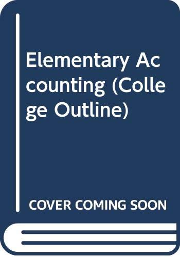 9780064601504: Elementary Accounting (College Outline)