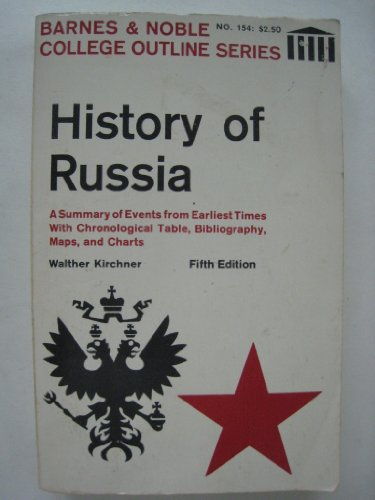 9780064601542: A history of Russia (College outline series)