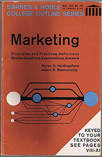 9780064601573: Marketing (Barnes & Noble Outline Series, Cos 157)