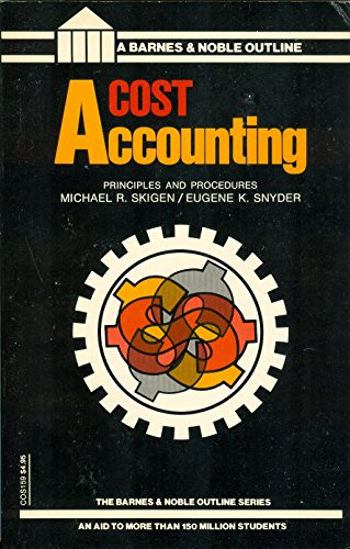 9780064601597: Cost Accounting (Barnes & Noble outline series)