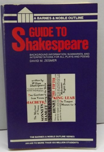 9780064601641: Guide to Shakespeare (Barnes & Noble Outline Series)