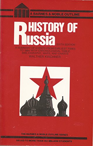 9780064601696: A history of Russia (Barnes & Noble outline series ; 154)