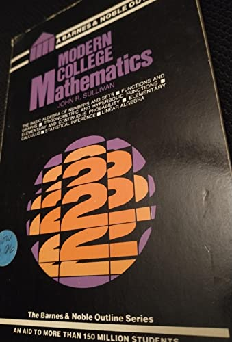 9780064601740: Modern college mathematics (The Barnes & Noble outline series)