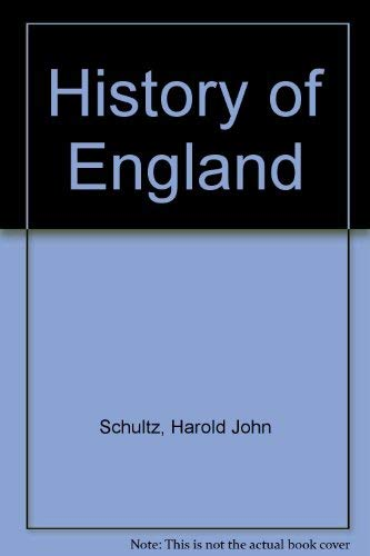 9780064601887: History of England (Barnes & Noble outline series ; COS 188)