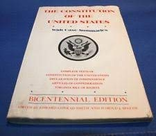 9780064602099: The Constitution of the United States, with case summaries (COS)