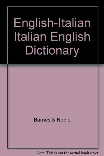 9780064610049: English-Italian Italian English Dictionary