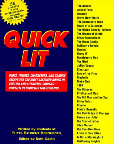 9780064610414: Quick Lit: Plots, themes, characters, amd sample essays for the most assigned books in Engl