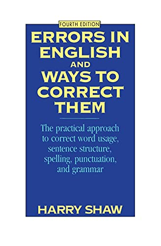 9780064610445: Errors in English and Ways to Correct Them: Fourth Edition: The Practical Approach to Correct Word Usage, Sentence Structure, Spelling, Punctuation and Grammar