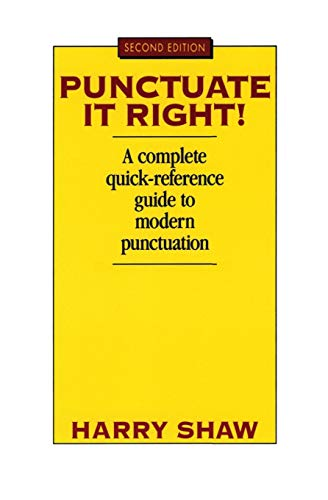 9780064610452: Punctuate It Right!: A Complete Quick-reference Guide to Modern Punctuation