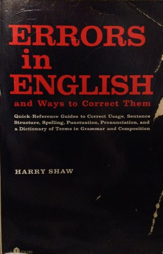 Errors In English and Ways to Correct Them: Shaw, Harry
