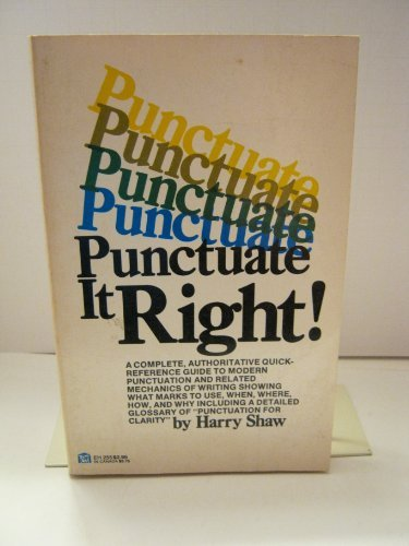 Punctuate it Right: HARRY, SHAW