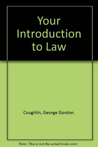 9780064632867: Your Introduction to Law