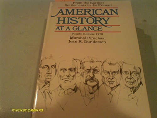 9780064634755: American History at a Glance: From the Earliest Settlements to the Present