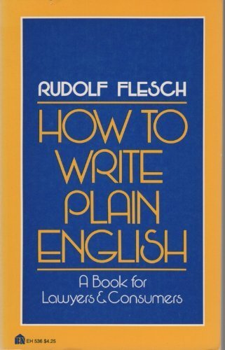 9780064635363: How to Write Plain English