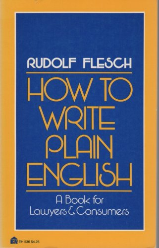 9780064635363: How to Write Plain English