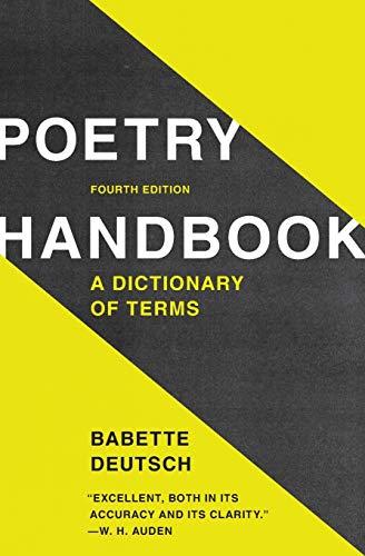 Poetry Handbook: A Dictionary of Terms: Deutsch, Babette