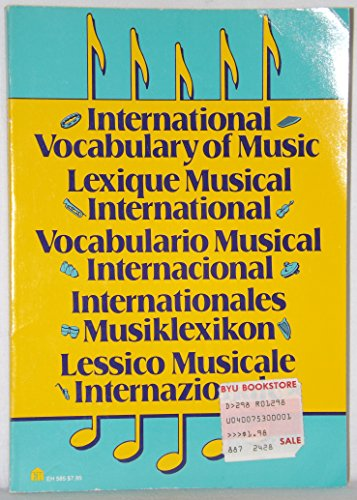 9780064635851: International Vocabulary of Music