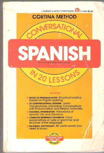 9780064636001: Conversational Spanish in 20 Lessons