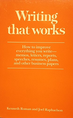9780064637107: Writing That Works: How to Write Memos