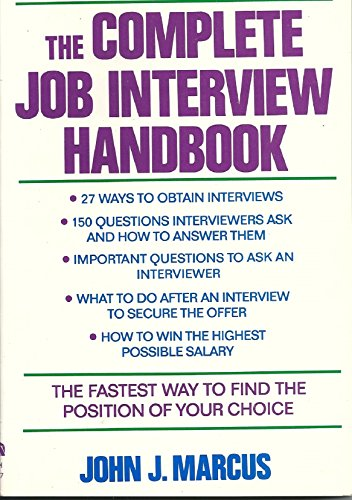 9780064637275: The Complete Job Interview Handbook