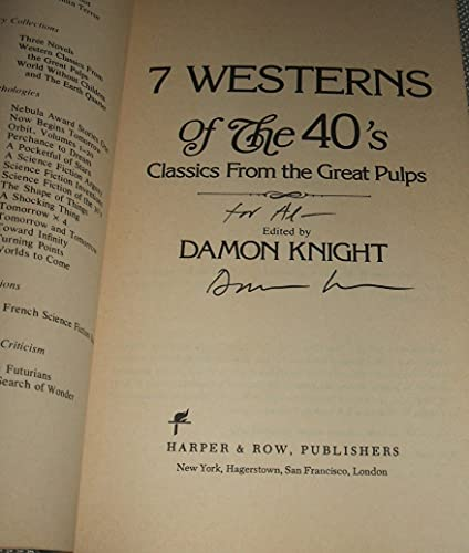 9780064651004: Seven Westerns of the Forties