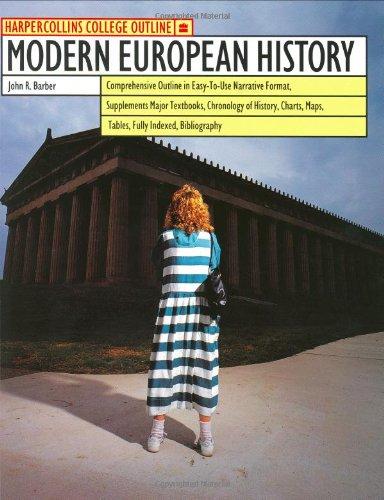 9780064671125: Modern European History (Harpercollins College Outline Series)