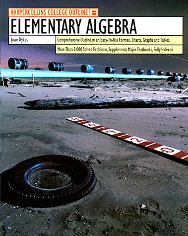 9780064671187: HarperCollins College Outline Elementary Algebra