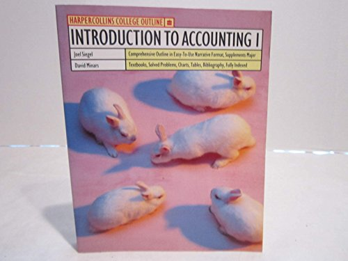 9780064671460: Introduction to Accounting 1 (Harpercollins College Outline Series)