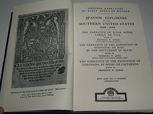 9780064803724: Spanish Explorers in the Southern United States, 1528-1543