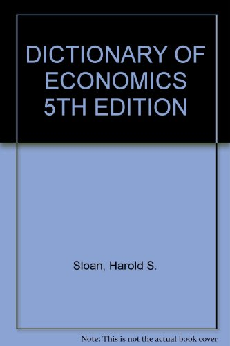 9780064807999: Dictionary of Economics
