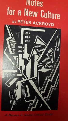 9780064900089: Notes For A New Culture. An Essay On Modernism.