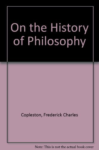 9780064912853: On the History of Philosophy