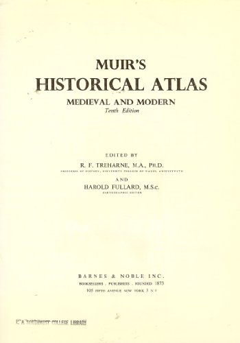 9780064950176: Muir's Historical Atlas Medieval and Modern