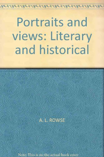 9780064960182: Portraits and views: Literary and historical