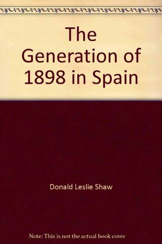 9780064962087: The Generation of 1898 in Spain
