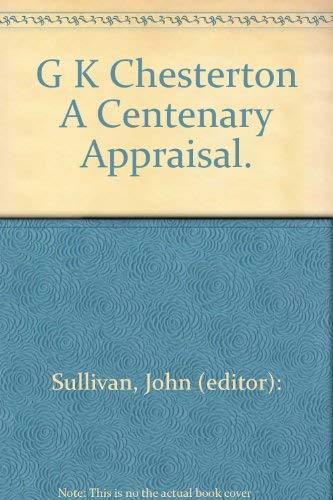 9780064965910: G. K. Chesterton: A Centenary Appraisal