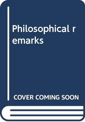 9780064978217: Philosophical remarks