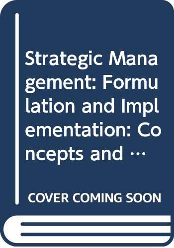 9780065000122: Strategic Management: Formulation and Implementation: Concepts and Cases