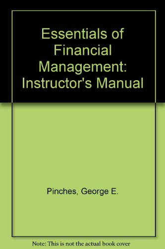 9780065000818: Essentials of Financial Management: Instructor's Manual