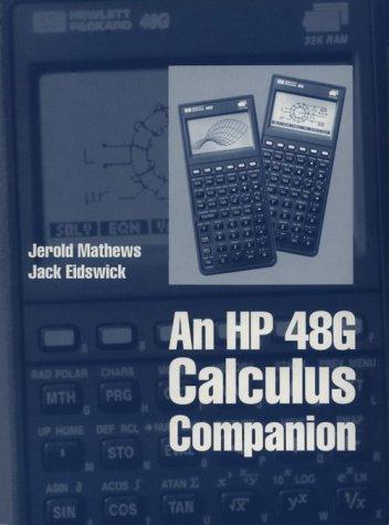 9780065001655: An Hp 48G Calculus Companion