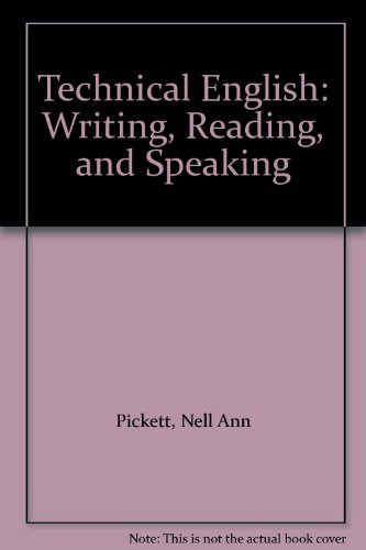 9780065002782: Technical English: Writing, Reading, and Speaking