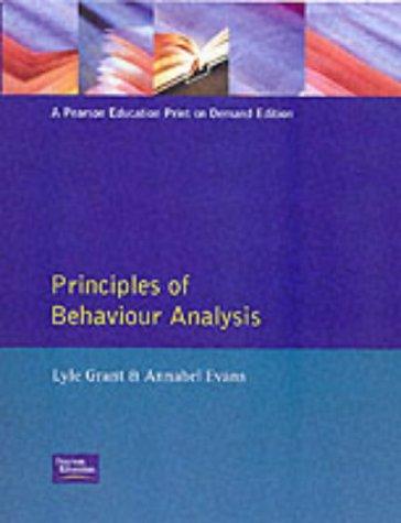 9780065003666: Principles of Behavior Analysis